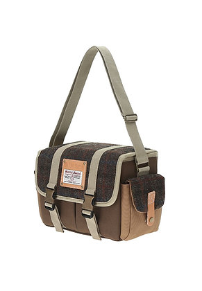 The Earth - HARRIS TWEED CAMERA BAG - DARK BROWN