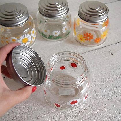昭和復古花朵糖果罐 (紅花) - ADERIA