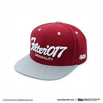 VINTAGE FONTS SNAPBACK CAP (Red)