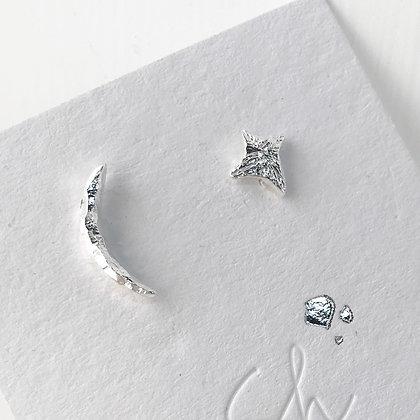 ShAnho - Moon and Star Earrings