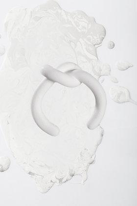 ZO-EE - WHITE UNROPE 3D PRINTING BANGLE