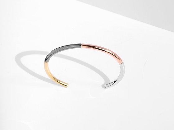 MADEGREY - Iconic 4-Tone Cuff Bracelet | Rose Gold