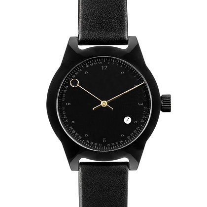 Squarestreet - SQ03 Minuteman, Two Hand, Black (Embossed Dial)