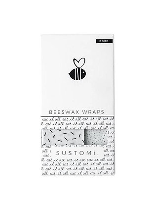 Beeswax Wraps 2 Pack: 1S 1M
