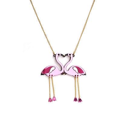 Flamingo Couple Pendant