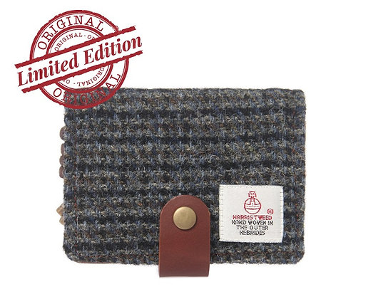 HARRIS TWEED CARD CASE - GREY