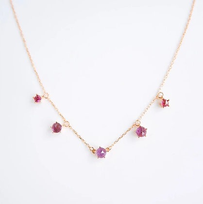 DREAMNICKER - Imma (Amethyst, Garnet) Necklace (Gold)