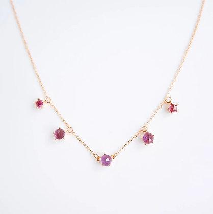 DREAMNICKER - Imma (Amethyst, Garnet) Necklace (Gold)