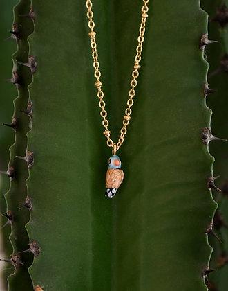 NACH BIJOUX - Chubby Blue Bird Necklace U221