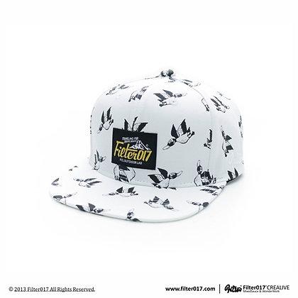 Monster Anatidae Pattern Snapback Cap S56 (White)