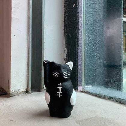 imainaya - 紙糊 招財貓 黑色 14.5cm