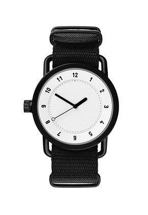 TID No.1 White / Black Nylon Wristband