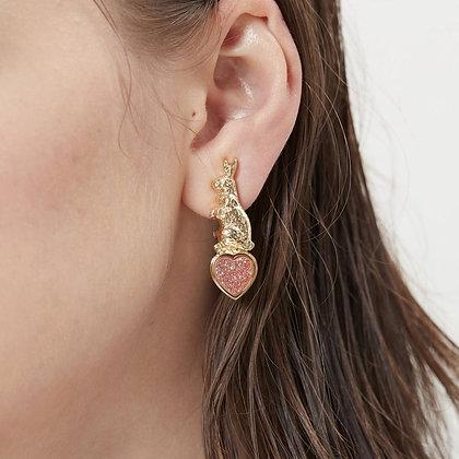 Love By The Moon - Sweet Talk Clip On Earrings (Pink Druzy)