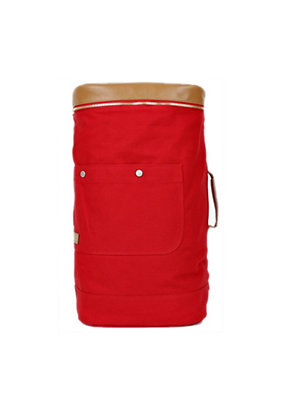 The Earth - CANVAS DUFFLE BAG Red