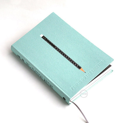 九口山 - 32開鉛筆系列白紙筆記本 - 08藍色