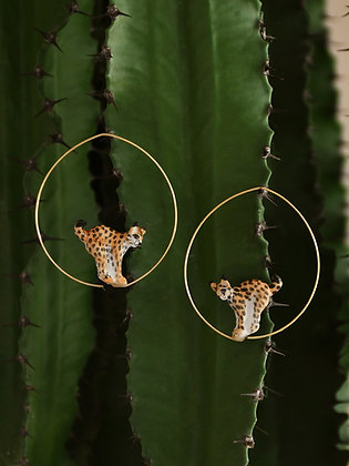 NACH BIJOUX - Lynx Hoop Earrings J368