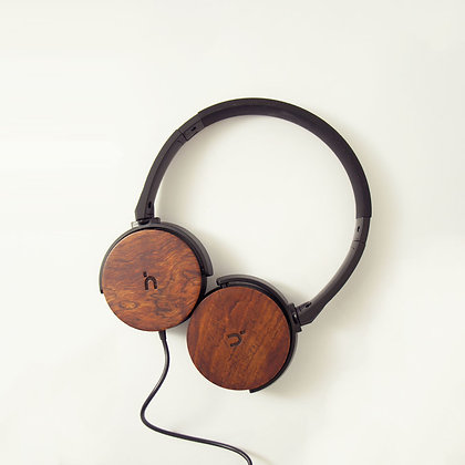 hoomia - U3Wood - Wooden Foldable Stereo Headphone