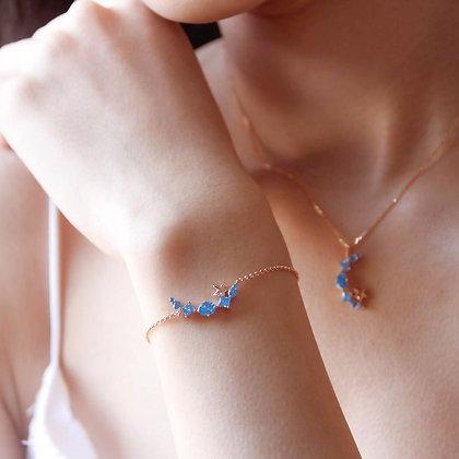 Love By The Moon -  Walk By the Sea Blue Bracelet