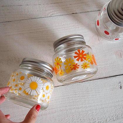昭和復古花朵糖果罐 (黃菊) - ADERIA