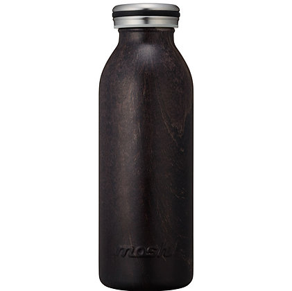 MOSH - Stainless Steel Bottle Wooden Collection 450ml - Dark Brown