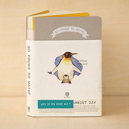 九口山X沈欣茹 - 又小又天真系列筆記本 - 企鵝 12