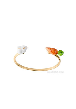 Nach - Bunny and carrot face to face bracelet