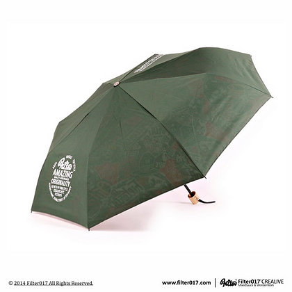 Dazzle Shield Folding Umbrella (Green/Colorful)