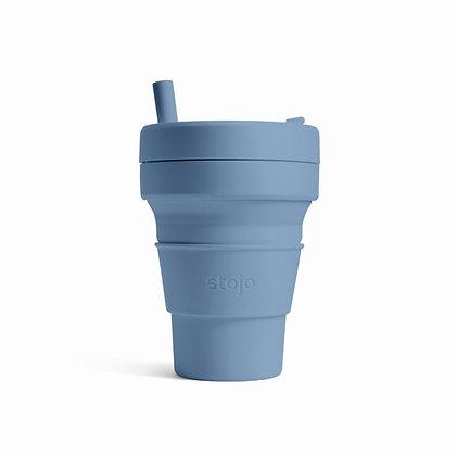Stojo - biggie 16 oz cup - Steel