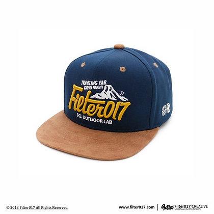 OUTDOOR LAB LOGO SNAPBACK 山形LOGO後扣式棒球帽 (藍+卡其)