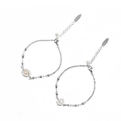 AGARIC GARDEN - Aura 珍珠 / 雙尖白水晶 星光手鍊