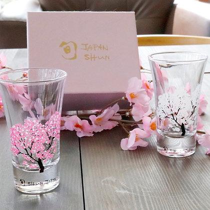 天開 ‧ 櫻花感溫禮盒(兩杯入) - 丸モ高木陶器