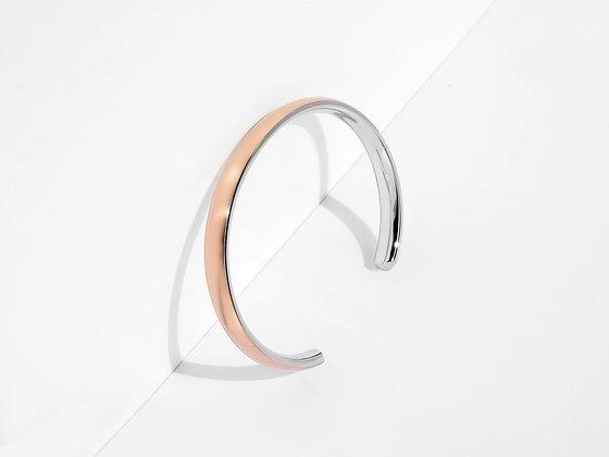 MADEGREY - Bold Cuff Bracelet | Rose Gold