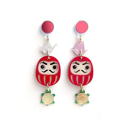 Fabcessories - Daruma Earrings