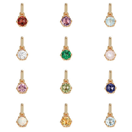 Love By The Moon - BIRTHSTONE GOLD HEART PRONG-SET PENDANTS