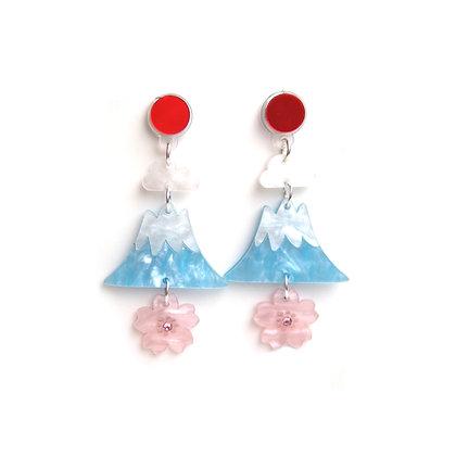 Fabcessories - Mount Fuji Earrings