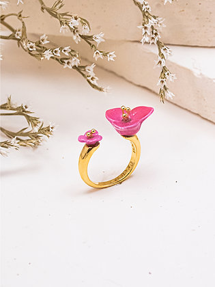 Nach - PINK BOUGAINVILLEA FACETOFACE RING