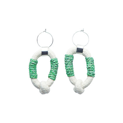 ZO-EE - GRASS LOOP A LOOP EARRINGS