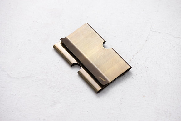 Playback - Dyed Brass Card Clip