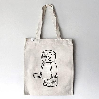 cheeky cheeky - cheeky pig tote bag