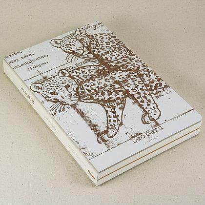 九口山 - 金典系列256page16開印金筆記本 - 豹