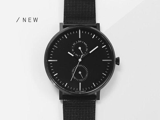 MADEGREY - Black MG002 | Mesh + Leather Straps Set