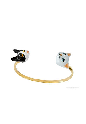 Nach - Cat and dog face to face bracelet