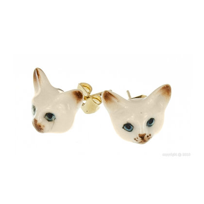 Nach - Mini Siamese Cat earring