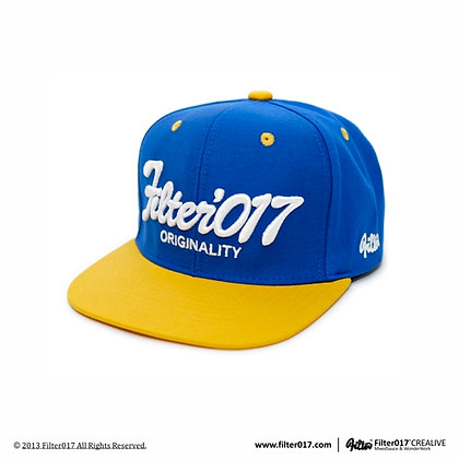 VINTAGE FONTS SNAPBACK CAP (Royal blue/Yellow)