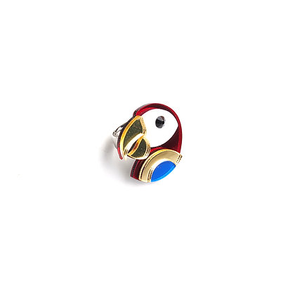 Scarlet Macaw Ring