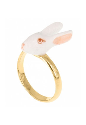 Nach - Adjustable ring white rabbit