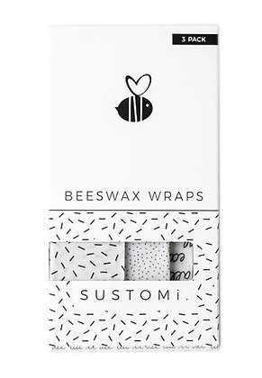 Beeswax Wraps 3 Pack: 1S 1M 1L