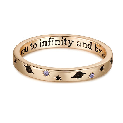 Love By The Moon - CZ GOLD RING - INFINITY