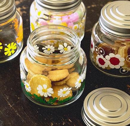 昭和復古花朵糖果罐 (雛菊) - ADERIA