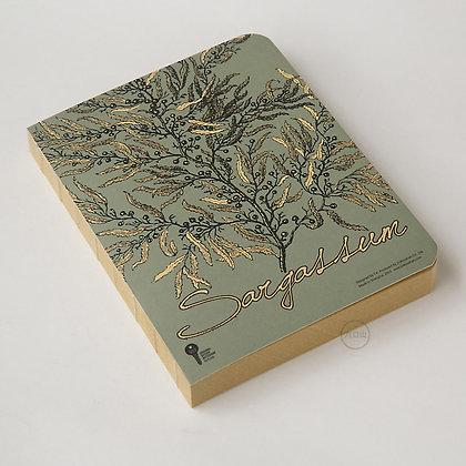 九口山 - 原創320page牛皮紙裸裝筆記本 - 海藻